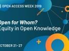 Săptămâna Internaţională a Accesului Deschis 2019