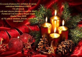 Cu ocazia frumoaselor sărbători de iarnă, colectivul Bibliotecii USEFS Vă adresează cele mai sincere felicitări și urări de bine!